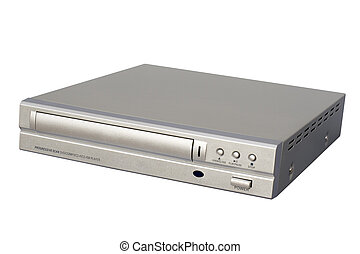 DVD Player - Silver DVD Player; isolated, clipping path...