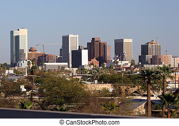 Phoenix Downtown, AZ - Highrise Buildings in Downtown of...