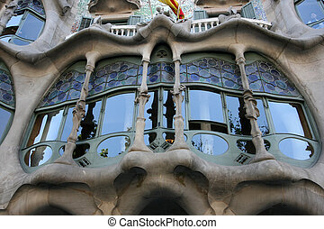 Casa Batllo - Detail of Window Casa Batllo by Antoni Gaudi...
