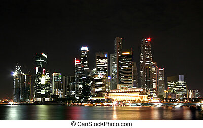 Floating City - Singapore night scene