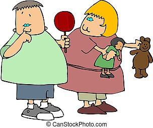 Nose Picker - This illustration depicts a small boy picking...