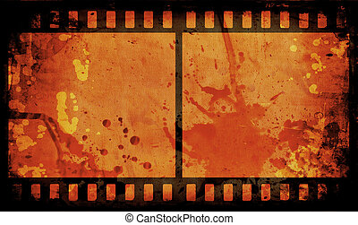 Grunge film strip - Grunge style film strip background