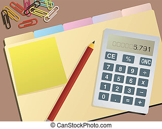 blank business accounts - An illustration of a folder with...