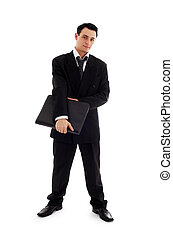 businessman with black folder 2 - picture of businessman...