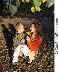 秋天, 兒子, 母親