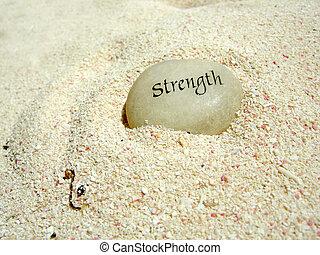 força, pedra