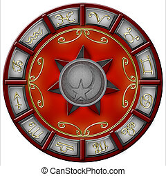 Red zodiac - Zodiac illustration