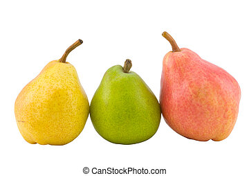 three full pears - the three full pears isolated with...