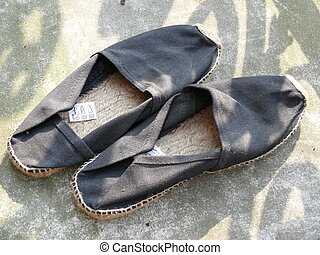 Espadrilles - Pair of well worn esapadrilles