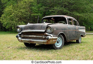 Vintage Car - Photographed orginal 1950s car for sale in...