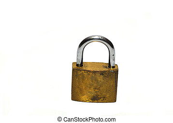 Security - A padlock concept of data security