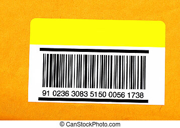 Barcode - A barcode isolated on an envelope ready to put...