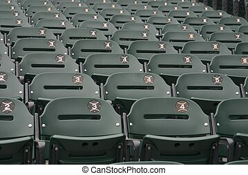 Green Bleacher seats - Bleacher seats at US Cellular Comisky...