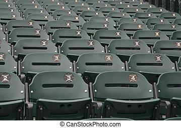 Green Bleacher seats - Bleacher seats at US Cellular...