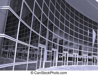 Corporate Building - -- a modern structure with a curved...