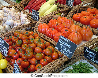 Vegetables in a market stand in Munich Germany