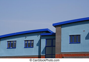 Modern Apartments - Modern Blue Apartment Building