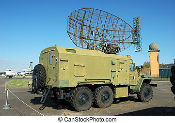 military truck - Older russian military truck with radar