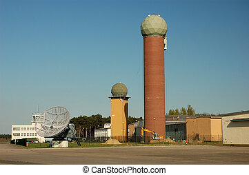 airport radar towers - Military airport radar towers and...