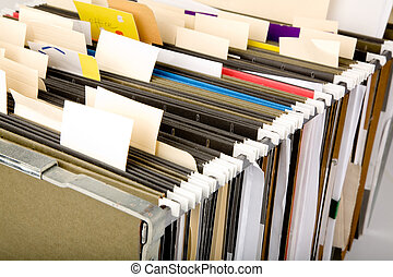 Hanging Folder and label, business concept