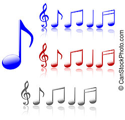 Shiny Music Notes - Singing the blues Or another color Your...