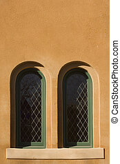 Tucson windows - Southwestern style adobe windows in...