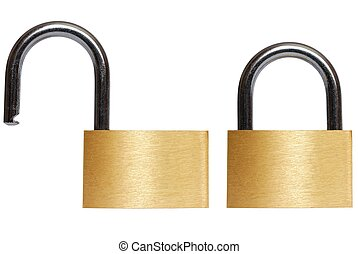 Padlocks - Two padlocks - open and closed