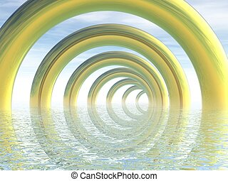 Quantity. 3D render. - Infinity. Abstract background from...