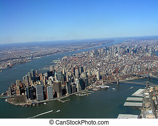Manhattan Aerial View - Appears the curvature of the planet...