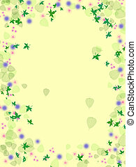 Leafy Swirl - A background and border I designed with early...