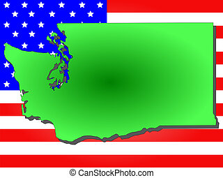 State of Washington - Map of the State of Washington and...