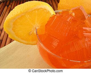 orange jello dessert - orange flavored jello dessert with...