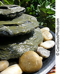 zen fountain - small zen fountain with stones for the home...