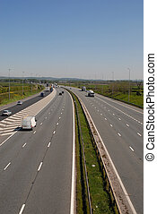 UK Motorway Traffic - UK motorway traffic including cars and...
