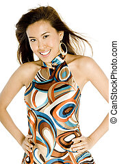 Pretty Asian Woman - A trendy young asian woman in casual...