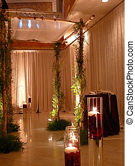 Jewish Wedding Chuppah - Elaborate chuppah with green vines...