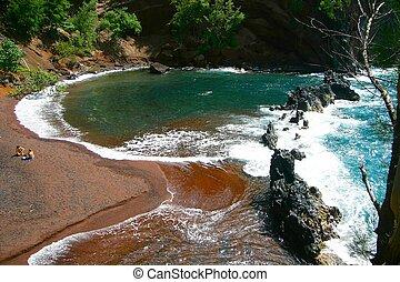 red sand beach Hana, Maui, Hawaii