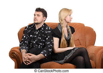 Adult couple on the sofa - Happy adult couple on the sofa....