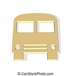 bus icon - 3d bus icon - public transport