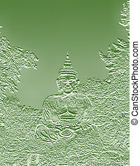 buddha sitting in meditation - buddha sitting in the posture...