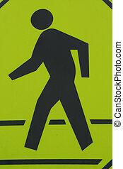 Crosswalk Sign - A Pedestrian is Depicted on a Crosswalk...