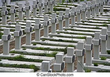 guerra, cemitério