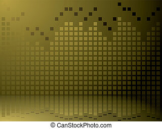 equalizer - A graphical equaliser abstract background in...