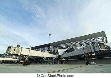 Split Airport Jetway Bridges