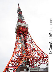 Tokyo Tower - Tokyo tower with sky background in japan