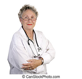 Mature Female Doctor - A mature, competent looking female...