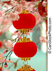 Chinese traditional red lantern 2 - chinese red lantern with...