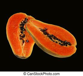 Papya 2 - Papaya isolated on black