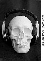 Head-phones Cranium - a cranium with head-phones