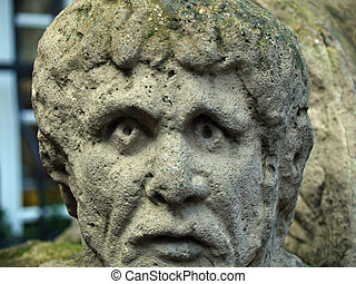 stonehead - old stonehead in Trier Germany